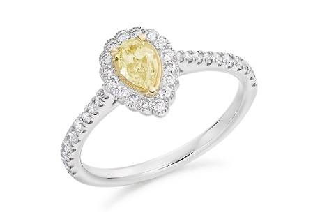 Bespoke yellow diamond  rings - Pobjoy Diamonds in Surrey