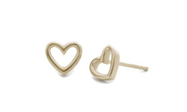 Heart shaped yellow gold earrings entitled La valentine