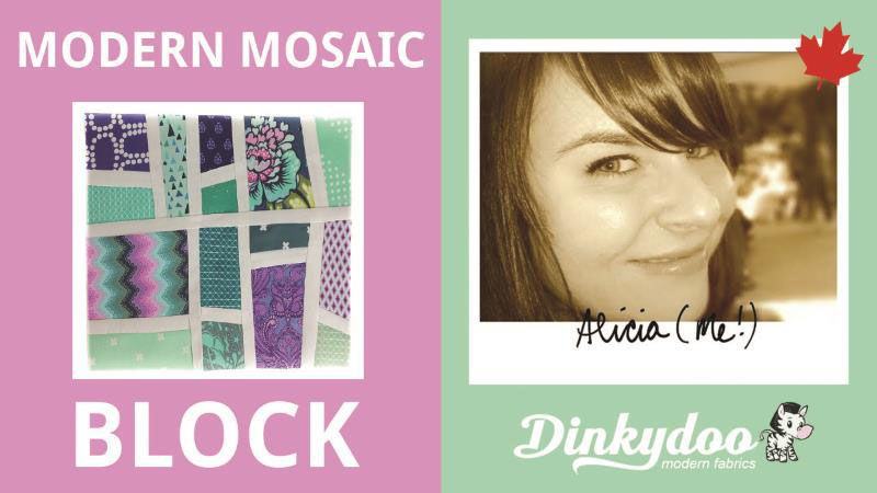 quilt tutorial how to make a modern mosaic block