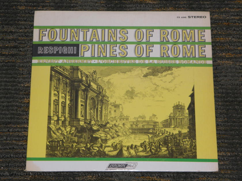 Ansermet/L'Orchestre de la Suisse Romande - Respighi Pines+Fountains Of Rome London CS 6345 UK Decca 2W/3W matrix