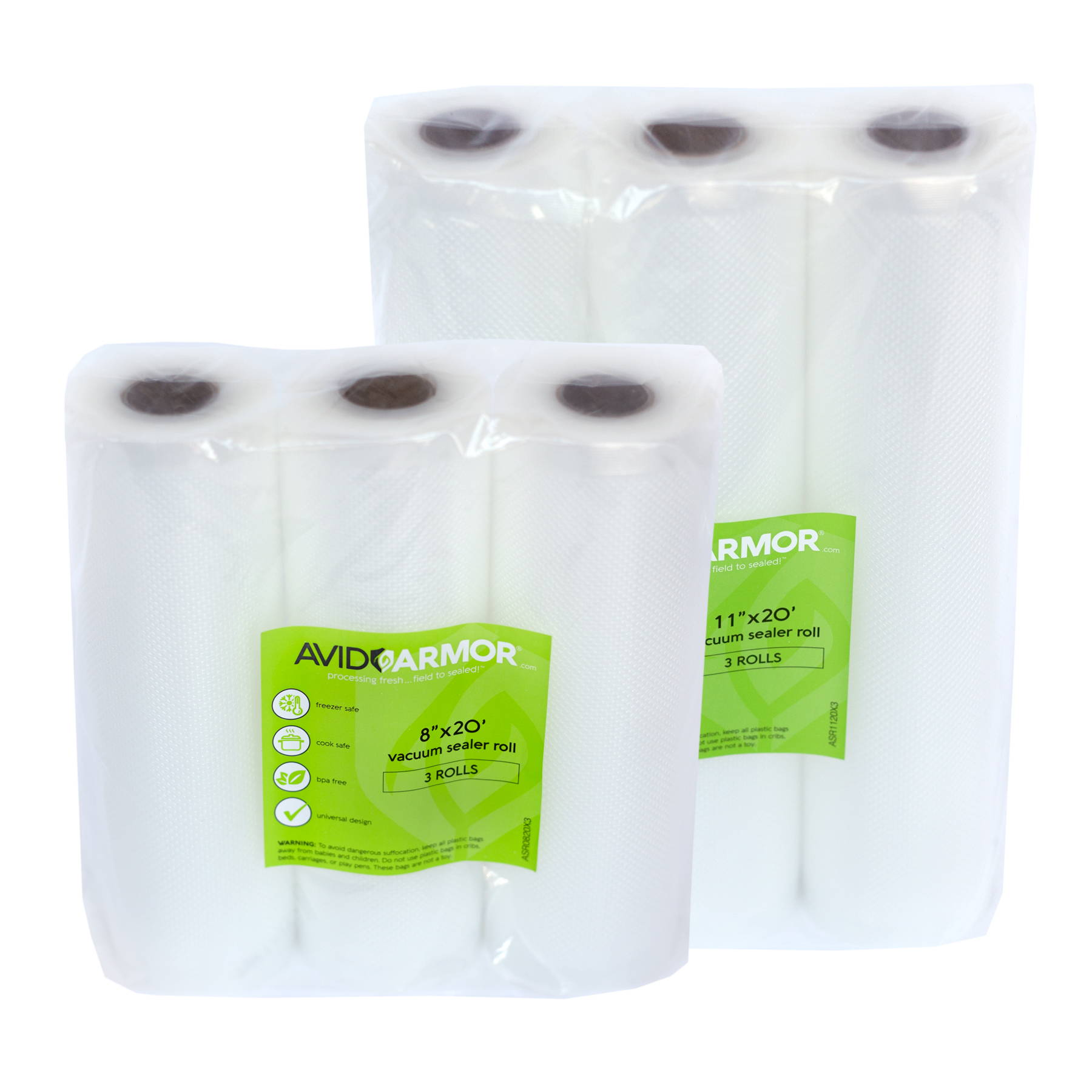 8x20 and 11x20 Vacuum Sealer Rolls