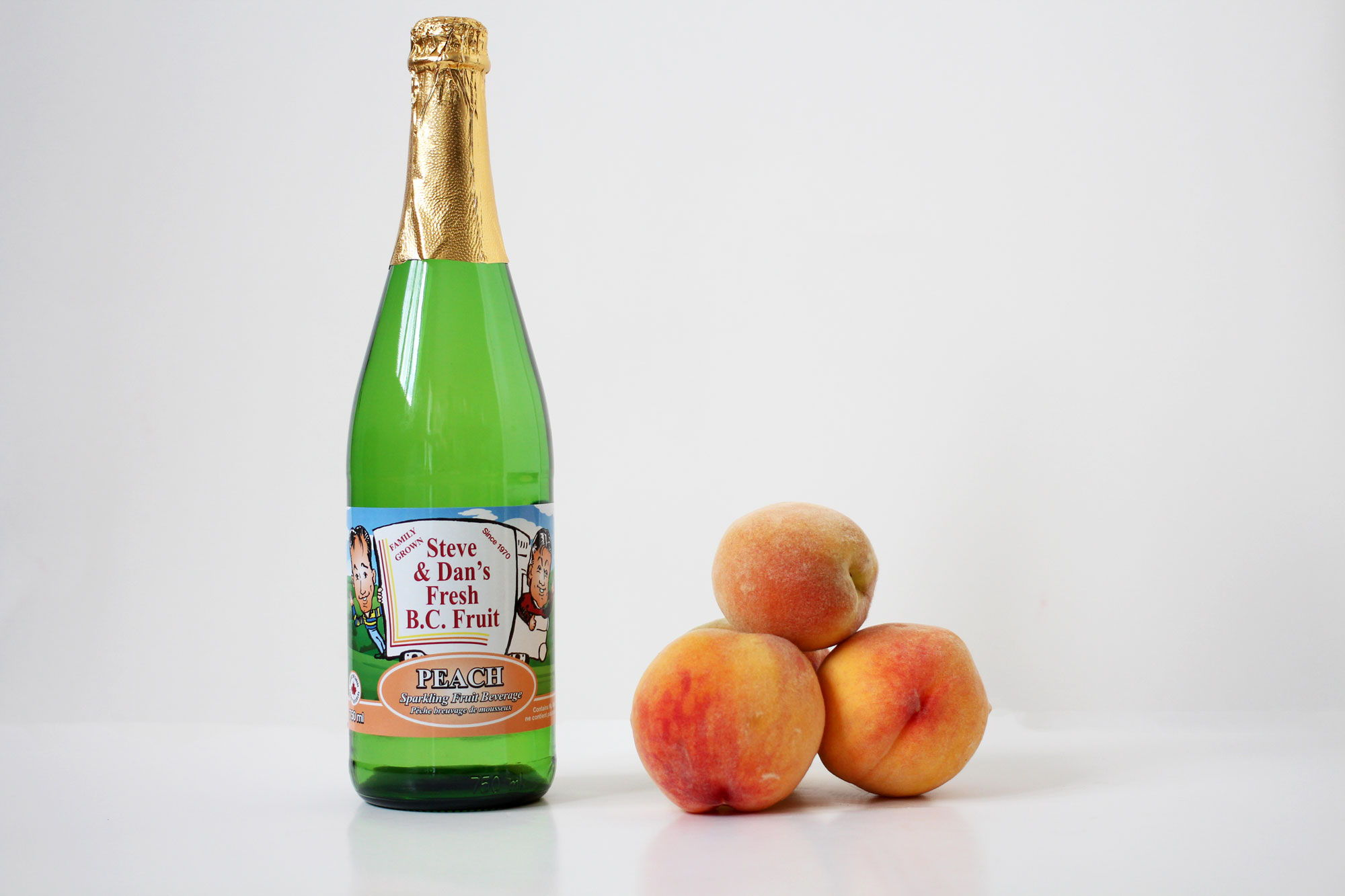 Sparkling Peach Juice - Souto Farms Fresh BC Fruit
