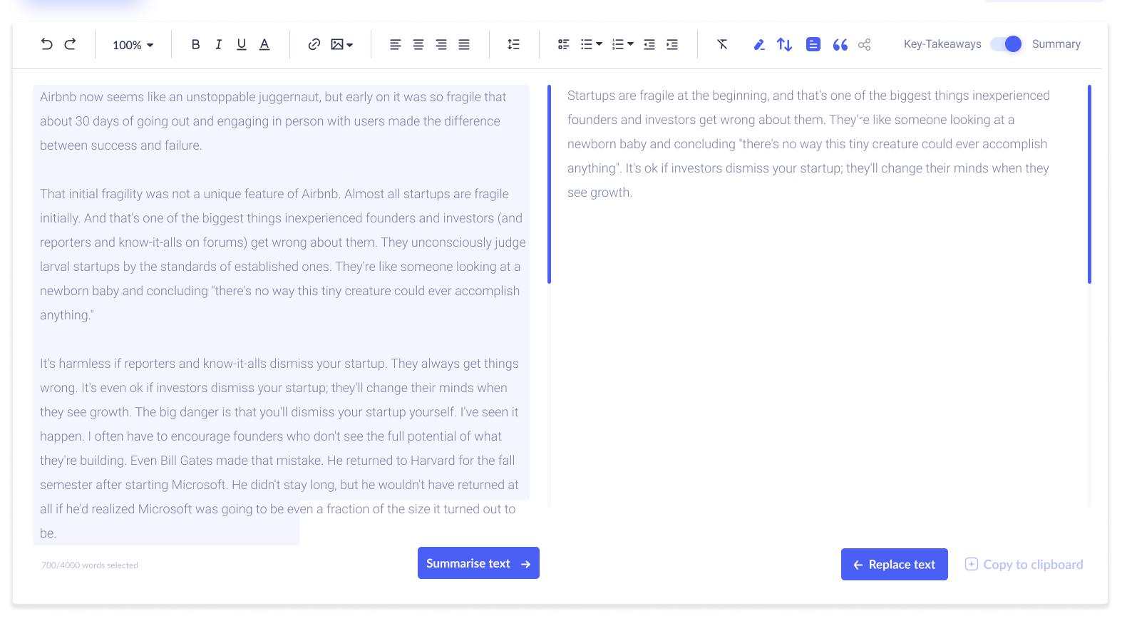 Content screen   summarise text (1)