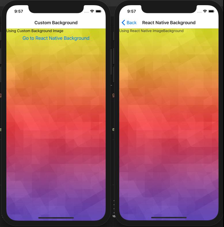 React Native Background Image Running App