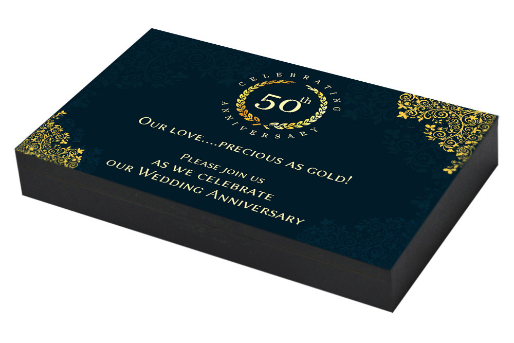 Vintage Golden Jubilee Anniversary Invitation