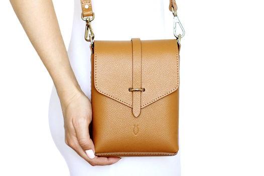 Коричневая кожаная сумка Ida