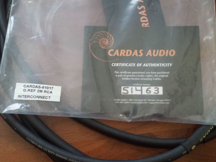 Cardas Audio Golden Ref int 2 meter RCA - Stereophile Recommended - Like New