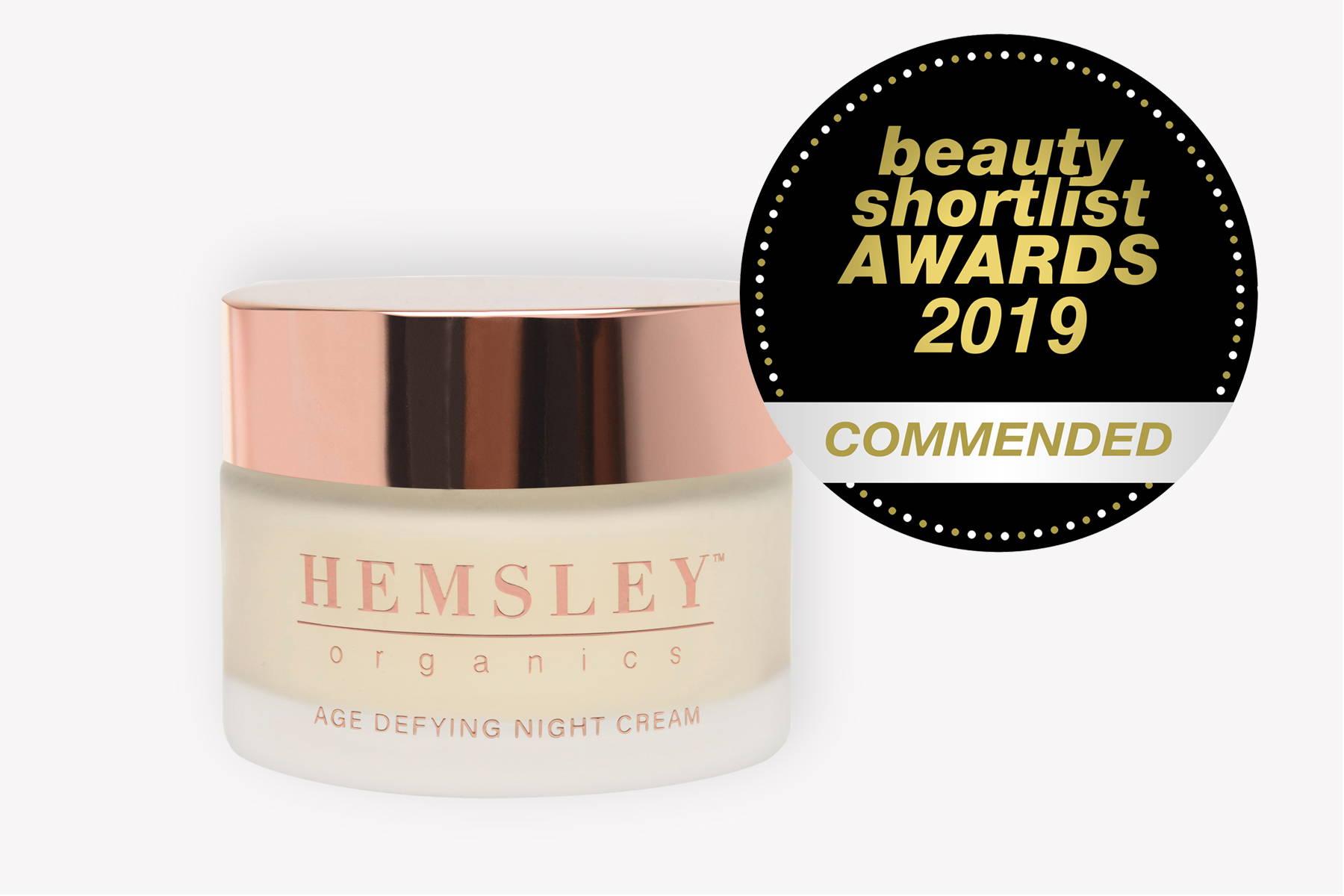 award winning, beauty shortlist, award, commended, 2019, night cream, skincare, skincare award