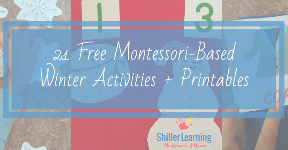 21 Free Montessori Based Winter Printable Activities – ShillerLearning