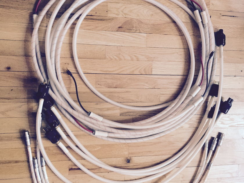 Cerious Technologies Entire loom of Ceramic cables- 14' speaker- 4'  Speaker, XLR , RCA , 4 AC cables - orig owner