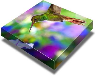 Acrylic picture blocks