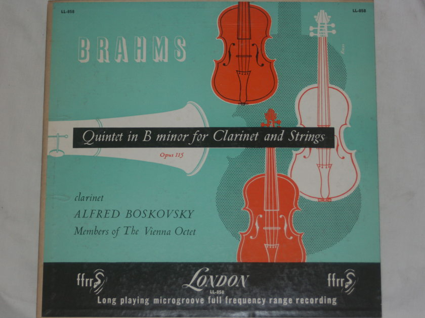 Brahms - Quintet in B Minor for Clarinet and Strings London LL-858
