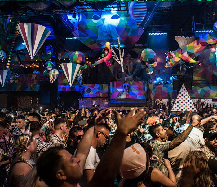 Amnesia Ibiza club, elrow party, Ibiza nightclubs guide