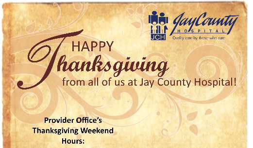 Healthcare Provider Office's Thanksgiving Hours