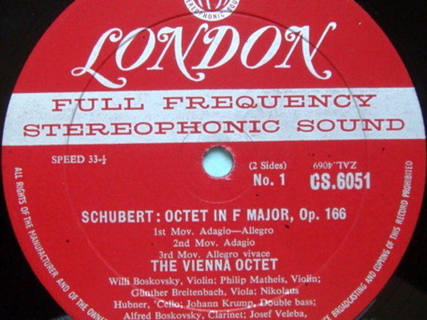 ★1st Press★ LONDON-DECCA FFSS-WB-BB / VIENNA OCTET, - Schubert Octet in F, NM-!