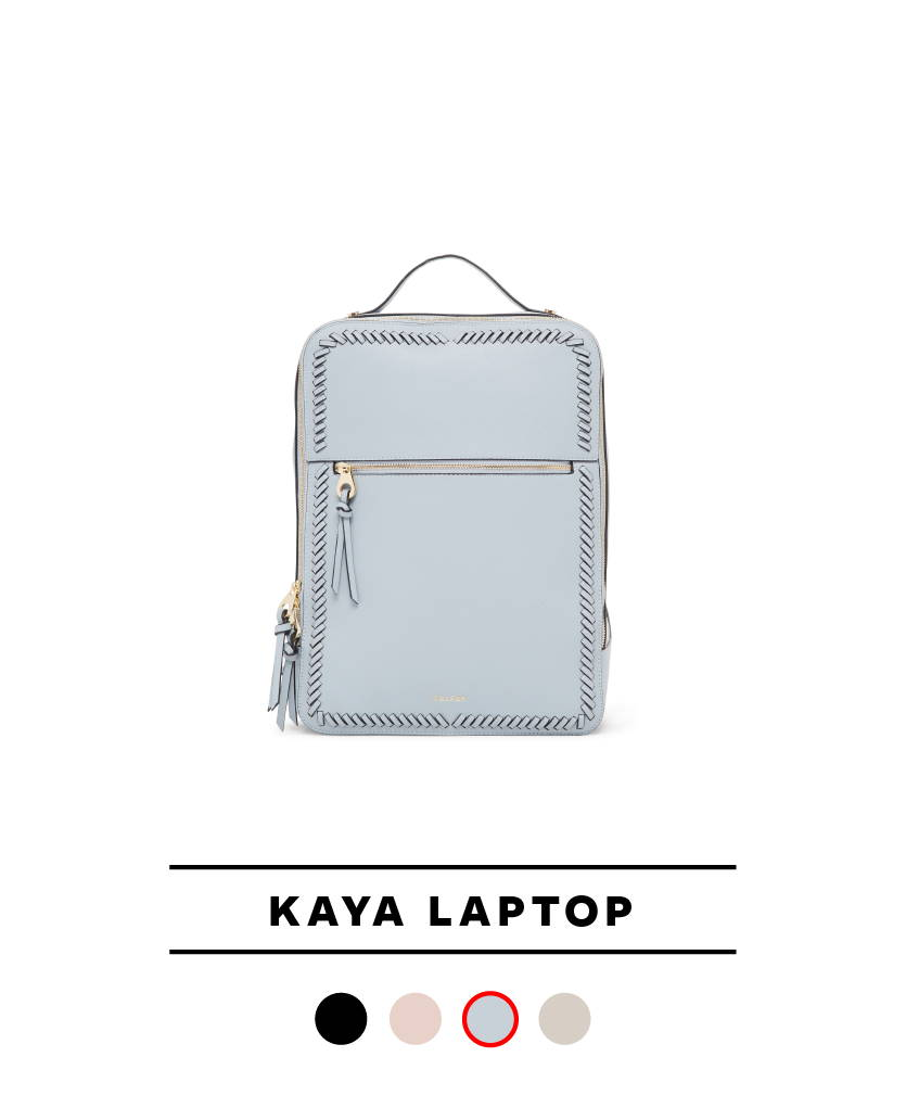 Kaya Laptop Backpack in Denim