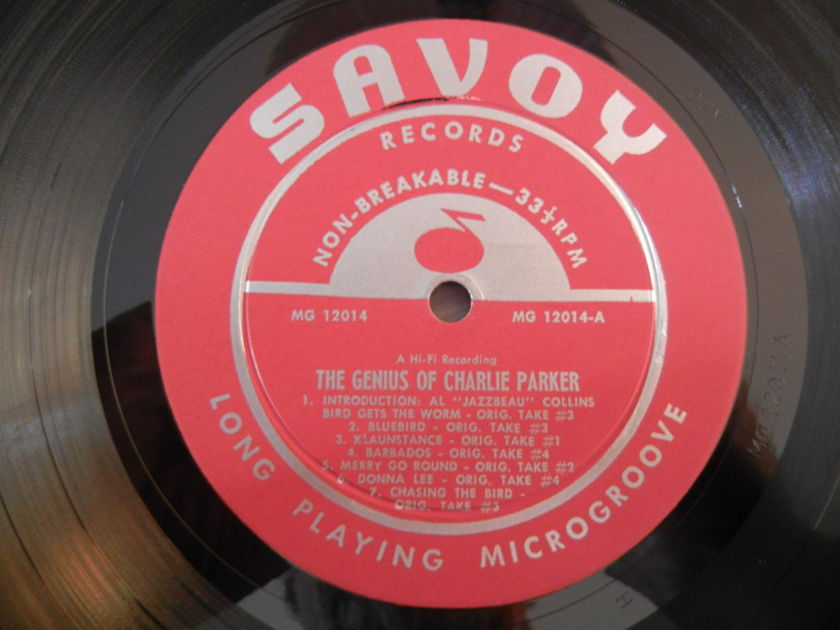 Charlie Parker - The Genius Of Charlie Parker Savoy MG-12014