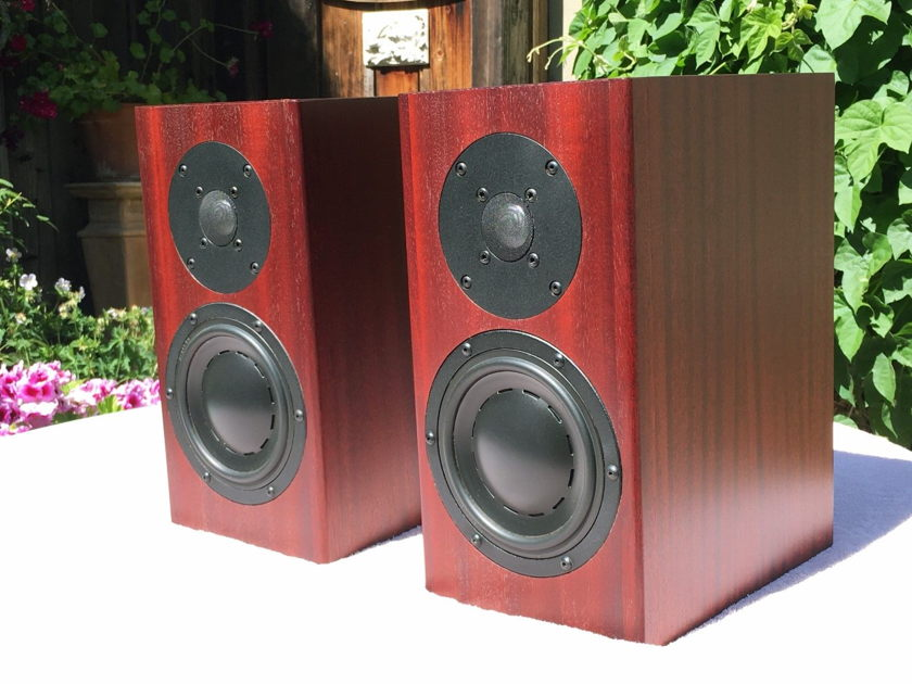 Totem Acoustics Model 1 Loudspeakers in beautiful Mahogany finish.