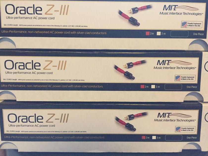 MIT Z-3 2 meter  Reduced!  Oracle AC cord