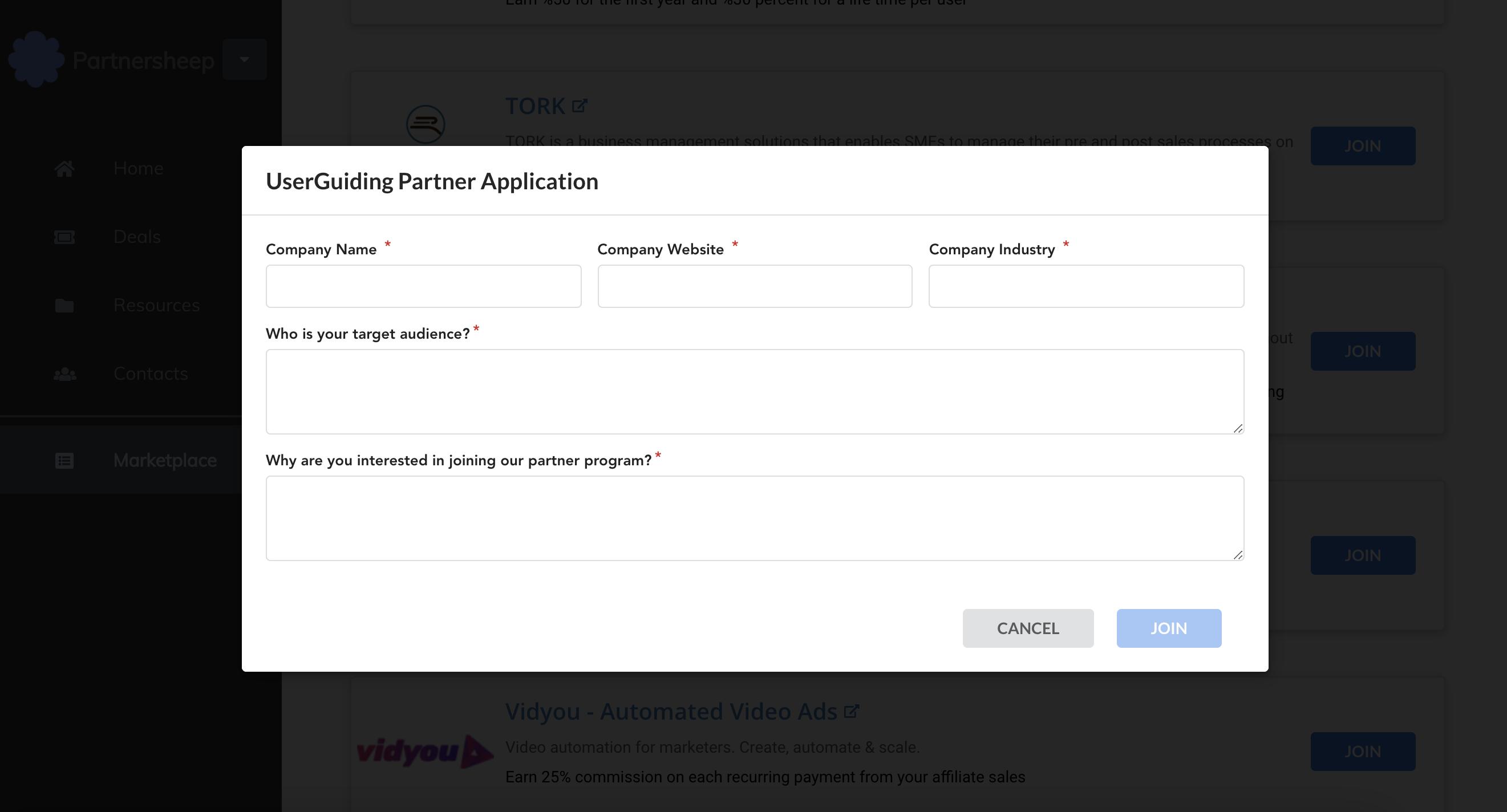 Apply for a partner program