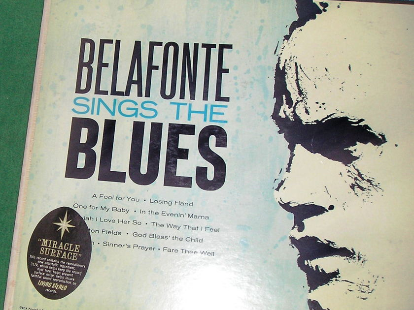 BELAFONTE SINGS THE BLUES - 1958 RCA SHADED DOG BLACK & SILVER DEEP GROOVE ** STEREO - NM 9/10 **