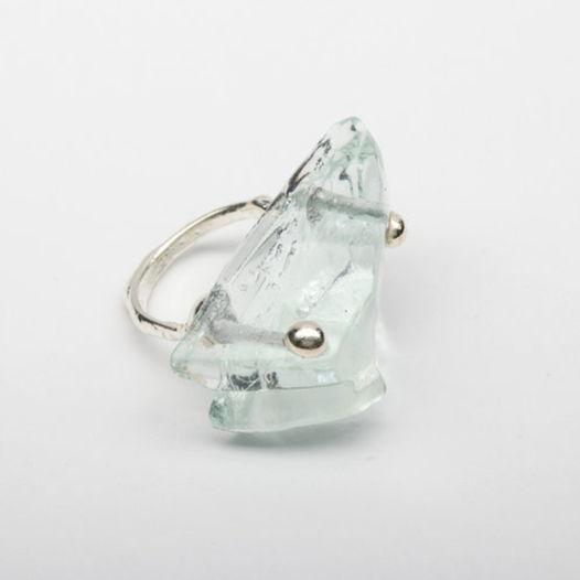 Кольцо из стекла Глазастый лед