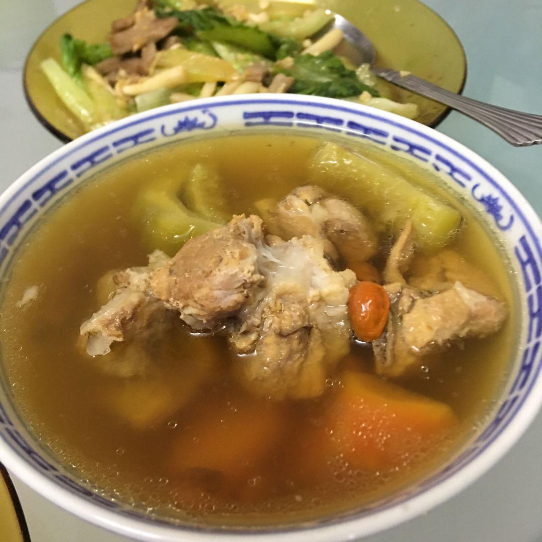Bittergourd soup.