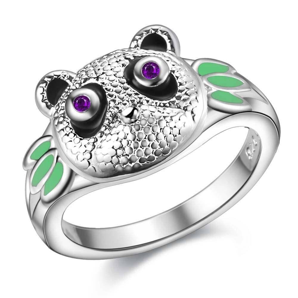 bague panda incrustes de diamants