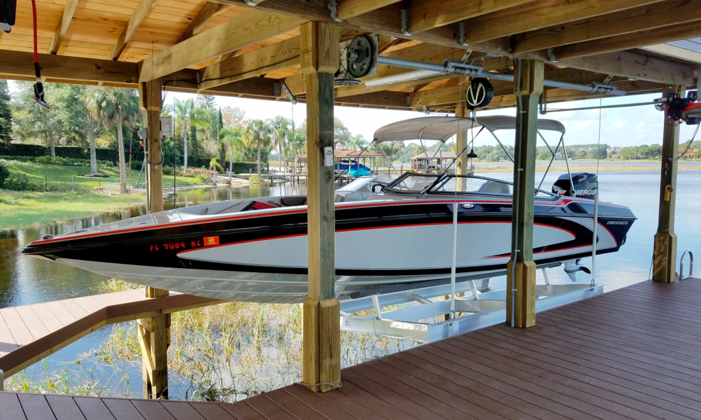 Keep your boat high and dry with our boat lifts