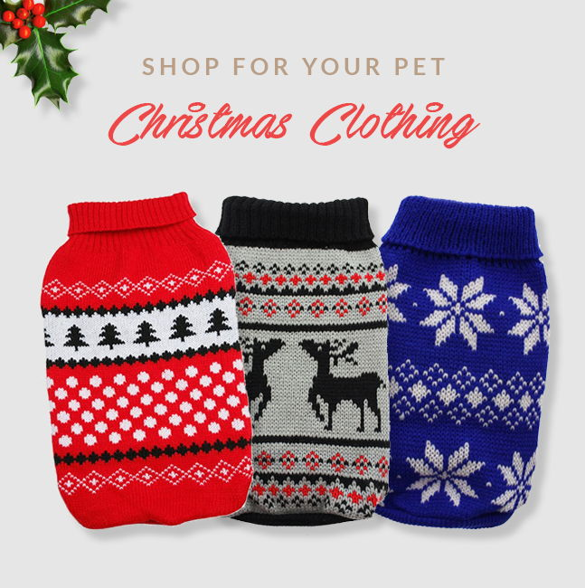 Shop Christmas Clothing for Pets