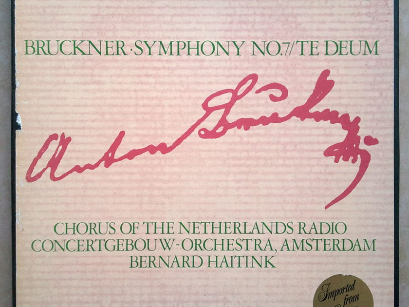 Philips/Haitink/Bruckner - Symphony No.7, Te Deum / 2-LP box set / NM