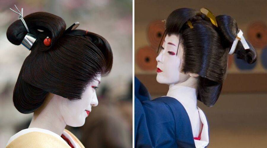 Taka Shimada and Tsubushi Shimada on a geisha
