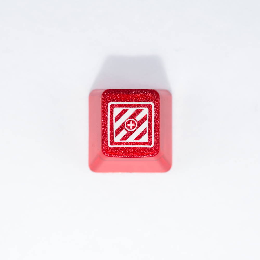 Red Translucent Keycap | Candykeys