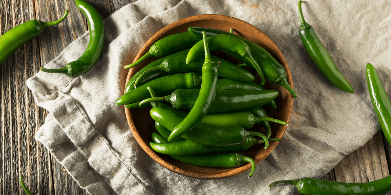 Jalapeno peppers in a bowl.