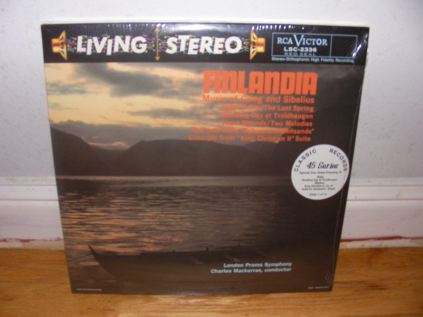 Living Stereo 45 RPM Lps Sealed - Finlandia Music of Grieg and Sibelius