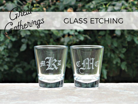 Glass Etching Party