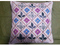 Crewel Embroidery Pillow Made by Frau Soybel