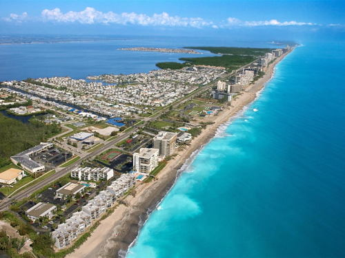 skyview of Jensen Beach