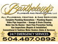 Plumbing Services from Barthelemy's Plumbing and Renovations