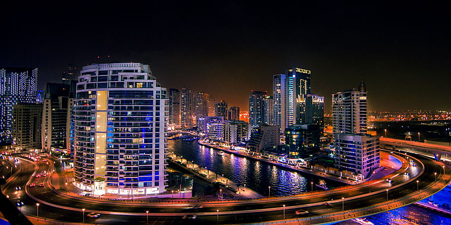 Dubai, United Arab Emirates - Dubai Night Skyline