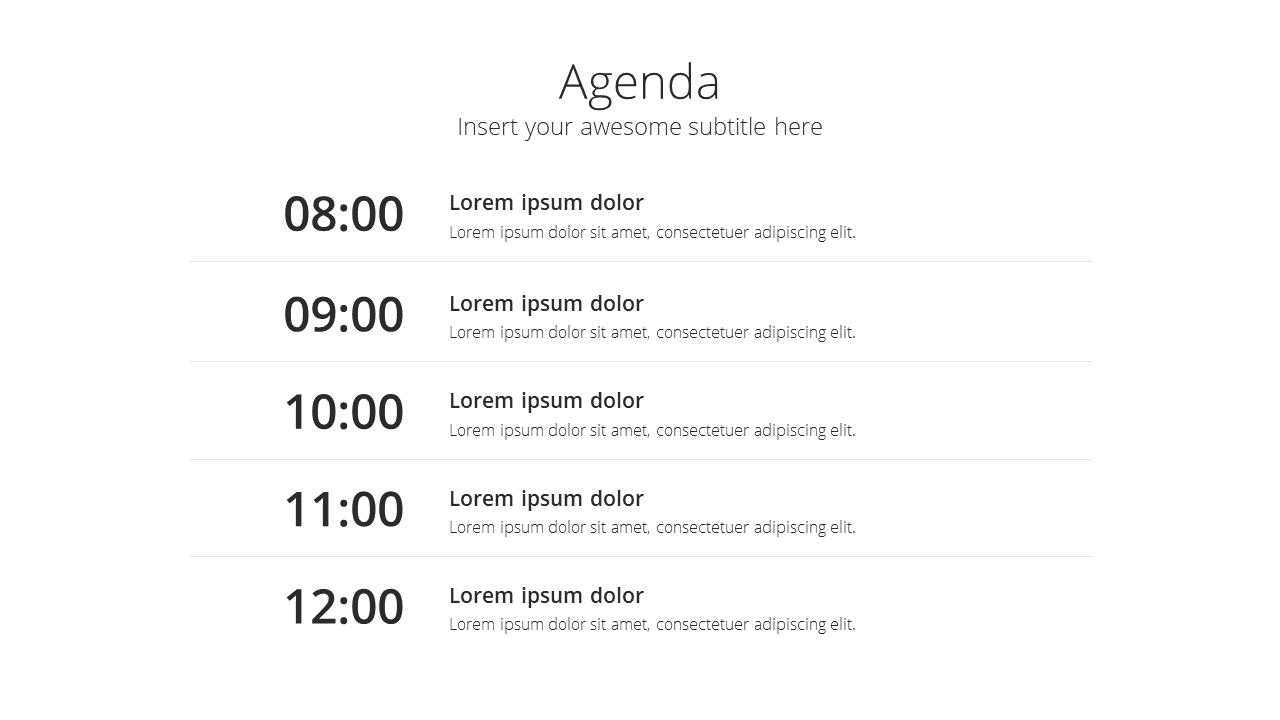 Modern X Presentation Template Business Plan Agenda