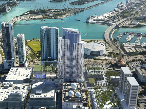 skyview of Downtown Miami