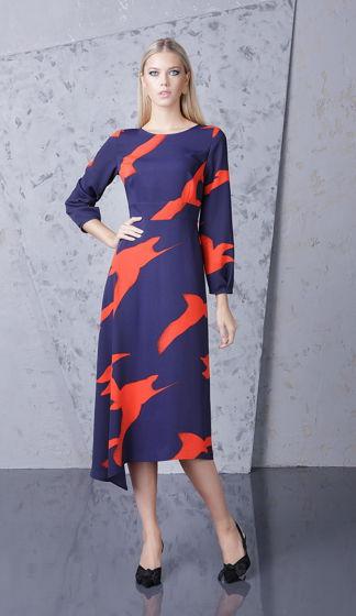 Платье  темно-синее Bonali 4084-0572