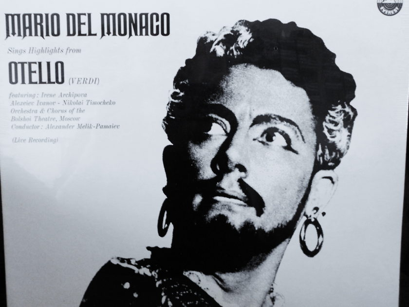 FACTORY SEALED ~ MARIO DEL MONACO - ~VERDI'S OTELLO ~ FROM MOSCOW LIVE RECORDING ~ HIGHLIGHTS ~ EVEREST 3183  (1967)