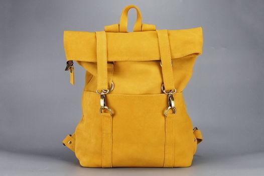 """Желтый замшевый  рюкзак """"Париж-Дакар"""""""