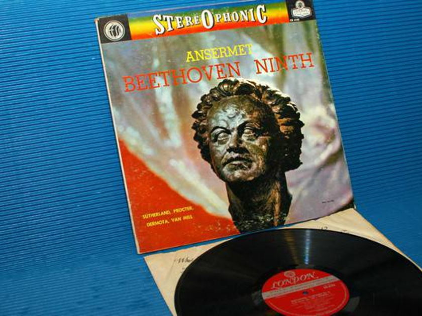 "BEETHOVEN/Ansermet - - ""Ninth Symphony"" - London 'Blue Back' 1961 early pressing"