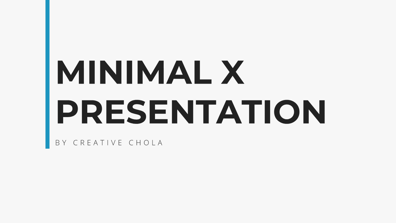 Minimal X Project Proposal Presentation Template Title Page