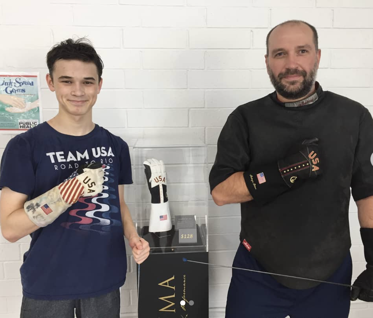 Lucas and Maksym with Zzuma gloves