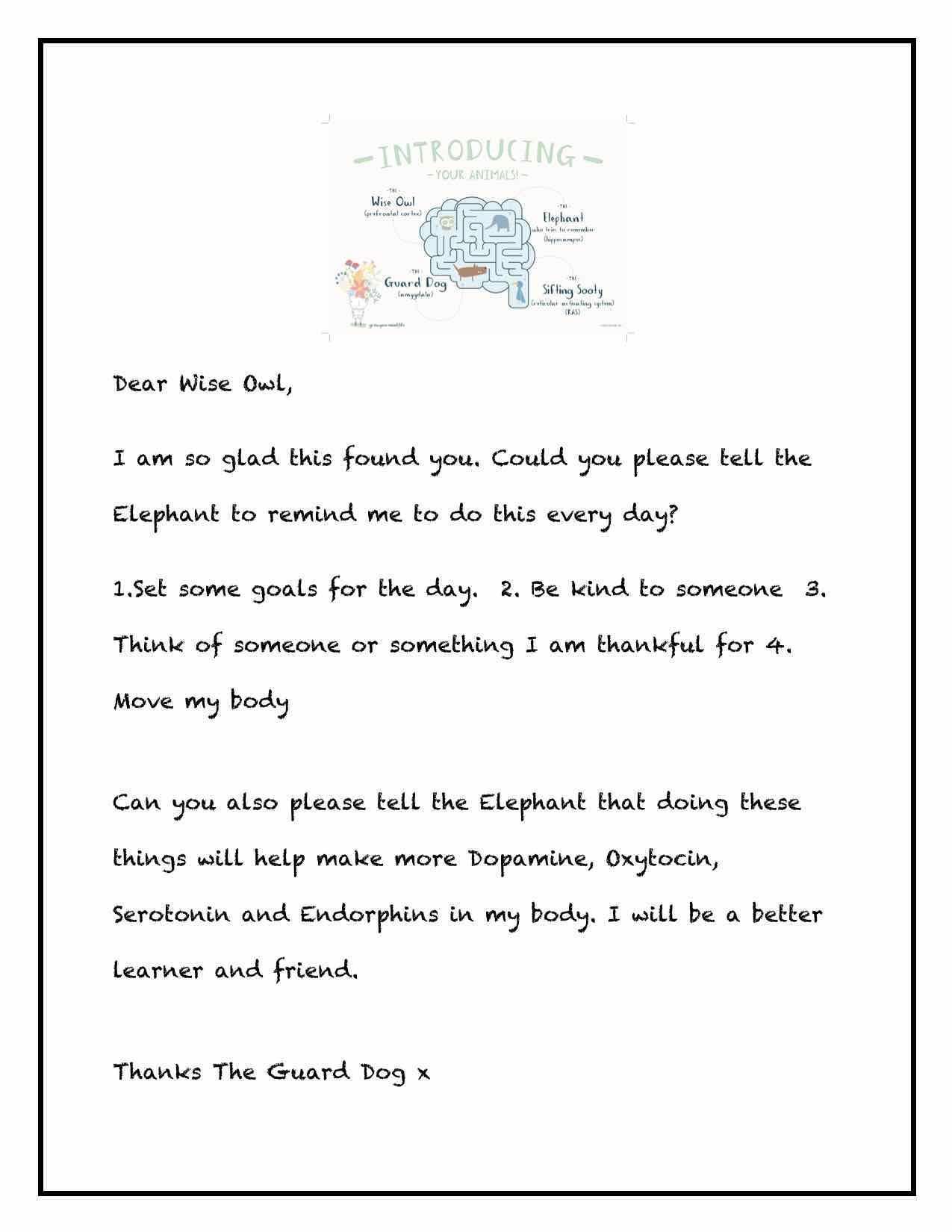 Dear Wise Owl