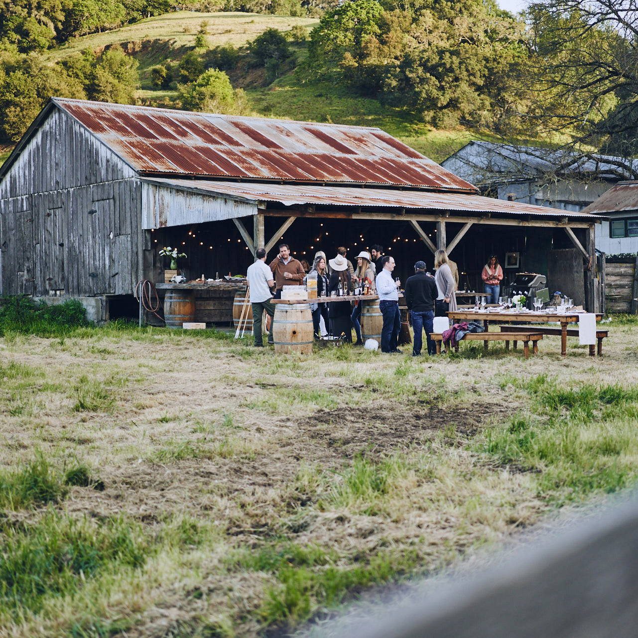 A backyard farm-to-table dinner hosted by Stick & Ball